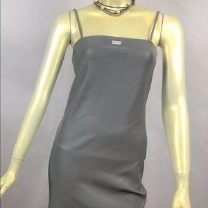 EUC KITH Frankies Reflective Fabric Chemise Dress